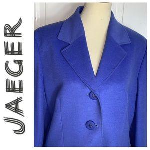 Jaeger Periwinkle Wool Blazer. Size 16